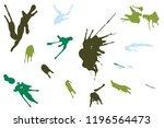 hand drawn set of green ink...   Shutterstock .eps vector #1196564473