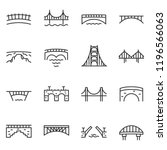 bridge  icon set. various... | Shutterstock .eps vector #1196566063
