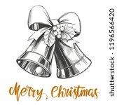 christmas bells calligraphy... | Shutterstock .eps vector #1196566420