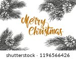 christmas wreath calligraphy... | Shutterstock .eps vector #1196566426