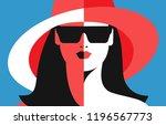 summer concept  female close up ... | Shutterstock .eps vector #1196567773