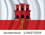 the gibraltar flag background... | Shutterstock .eps vector #1196573539