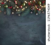 christmas background with fir... | Shutterstock . vector #1196574049