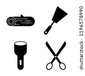 set of 4 simple vector icons... | Shutterstock .eps vector #1196578990