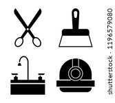 set of 4 simple vector icons... | Shutterstock .eps vector #1196579080