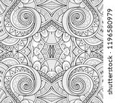 monochrome seamless tile... | Shutterstock . vector #1196580979