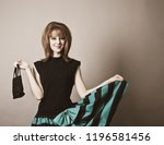 girl in american 50s 60s style... | Shutterstock . vector #1196581456