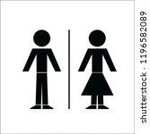 classic toilet sign | Shutterstock .eps vector #1196582089