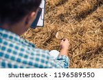 close up of a man from behind...   Shutterstock . vector #1196589550