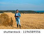 frontal portrait of man...   Shutterstock . vector #1196589556
