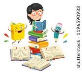 vector illustration of school... | Shutterstock .eps vector #1196590933
