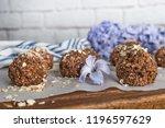 healthy organic energy granola... | Shutterstock . vector #1196597629