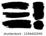 vector set of hand drawn brush... | Shutterstock .eps vector #1196602540
