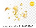 random falling golden star... | Shutterstock .eps vector #1196605963