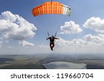 skydiving photo. | Shutterstock . vector #119660704