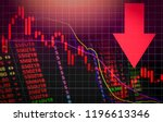 stock crisis red price arrow... | Shutterstock . vector #1196613346