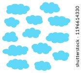 cloud icon set  blue clouds... | Shutterstock .eps vector #1196614330