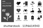 outline style icon pack for... | Shutterstock .eps vector #1196614543