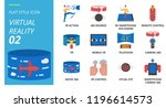 flat style icon pack for... | Shutterstock .eps vector #1196614573