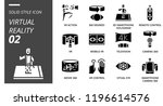 solid style icon pack for... | Shutterstock .eps vector #1196614576