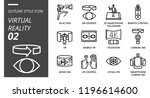 outline style icon pack for... | Shutterstock .eps vector #1196614600
