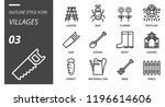 outline style icon pack for... | Shutterstock .eps vector #1196614606