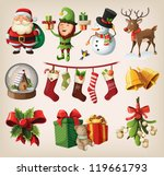 set of colorful christmas... | Shutterstock .eps vector #119661793