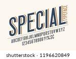 trendy vintage display font... | Shutterstock .eps vector #1196620849