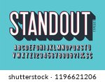 retro 3d display font design ... | Shutterstock .eps vector #1196621206