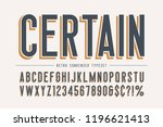 trendy vintage display font... | Shutterstock .eps vector #1196621413