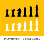 chess icons collection. | Shutterstock .eps vector #1196633263