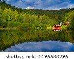 landscape with vibrant colour...   Shutterstock . vector #1196633296