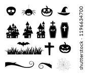 halloween icon set   Shutterstock .eps vector #1196634700