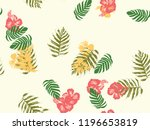 tropical background. green ... | Shutterstock .eps vector #1196653819