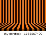stripe room in black and orange ... | Shutterstock . vector #1196667400