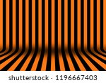 stripe room in black and orange ... | Shutterstock . vector #1196667403