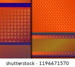 indian pattu sari vector... | Shutterstock .eps vector #1196671570