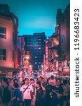 kobe   aug  18 2018  night life ...   Shutterstock . vector #1196683423