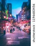 kobe   aug  18 2018  night life ...   Shutterstock . vector #1196683456