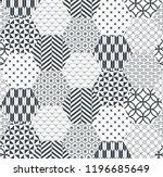 blue japanese pattern vector.... | Shutterstock .eps vector #1196685649