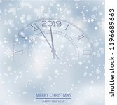 christmas or new year card with ... | Shutterstock .eps vector #1196689663