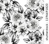 flower print in bright colors.... | Shutterstock .eps vector #1196691820
