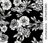 flower print in bright colors.... | Shutterstock .eps vector #1196691880