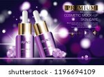 hydrating facial serum for... | Shutterstock .eps vector #1196694109
