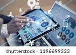 business and technology concept. | Shutterstock . vector #1196699323