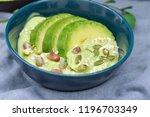 avocado yogurt or blended...   Shutterstock . vector #1196703349