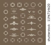 vector set of calligraphic...   Shutterstock .eps vector #1196714620