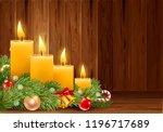 four advent christmas burning... | Shutterstock .eps vector #1196717689