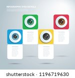 eyes color infographic. vector... | Shutterstock .eps vector #1196719630