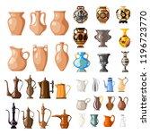large set of vessels for fluid. ... | Shutterstock .eps vector #1196723770